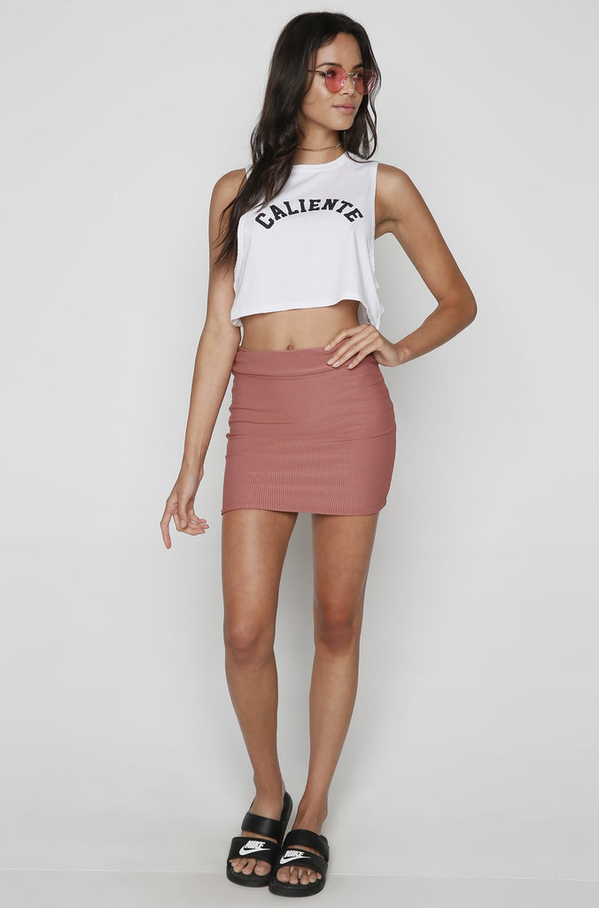 Paia Skirt in Lipstick Cord