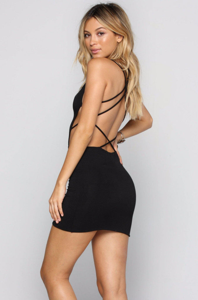 Akina Mini Dress in Black
