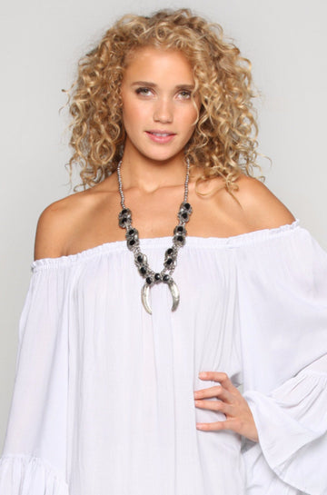 Natalie B Jewelry Two Raven Naja Necklace in Onyx|ISHINE365 - 1