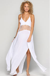 INDAH Ulima Maxi Dress in White|ISHINE365 - 1