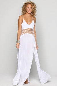 INDAH Ulima Maxi Dress in White|ISHINE365 - 3