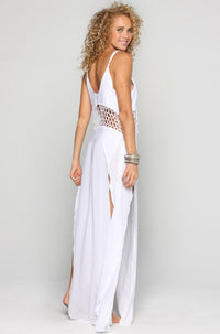 INDAH Ulima Maxi Dress in White|ISHINE365 - 4