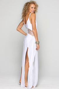 INDAH Ulima Maxi Dress in White|ISHINE365 - 2