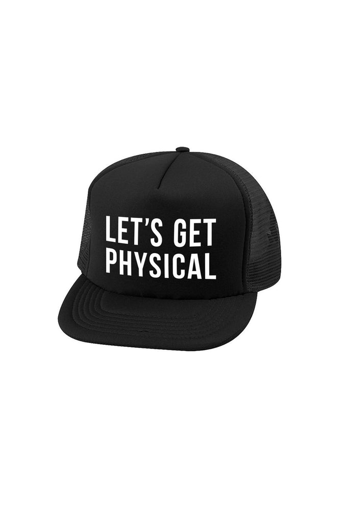 Physical Trucker Hat in Black