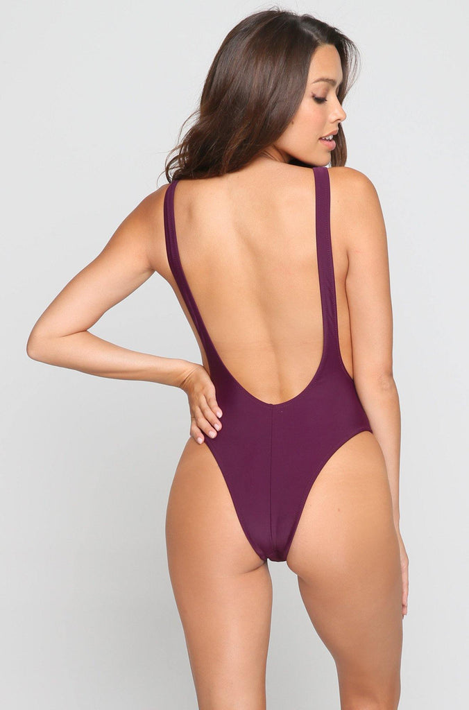*ISHINE EXCLUSIVE* V One Piece in Merlot