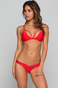 Double Trouble Bikini Top in Rose