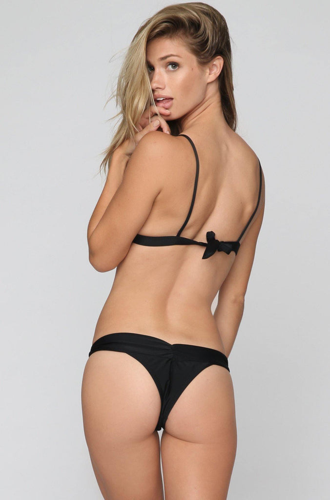 *ISHINE EXCLUSIVE* Boom Boom Bikini Bottom in Black