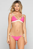 Kai Lani Double Trouble Bikini Top in Coral Reef|ISHINE365 - 1