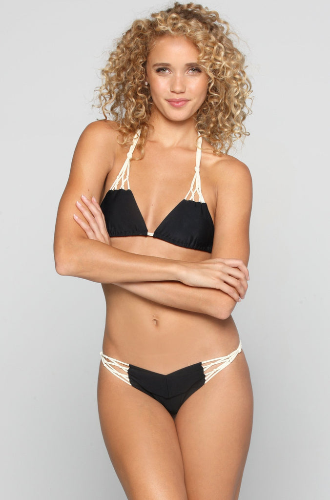 Kai Lani Knotty Bikini Bottom in Black Magic|ISHINE365 - 3