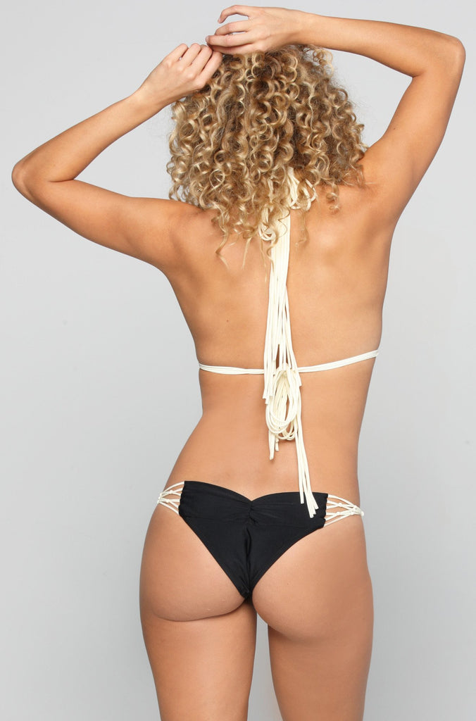 Kai Lani Knotty Bikini Bottom in Black Magic|ISHINE365 - 4