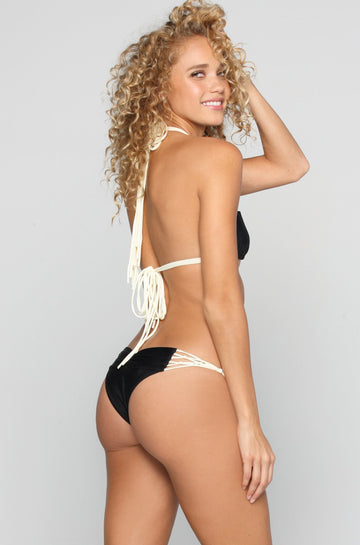 Kai Lani Knotty Bikini Bottom in Black Magic|ISHINE365 - 1