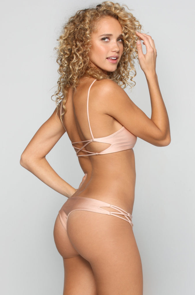 Dreamer Bikini Bottom in Champagne
