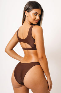 Abby Bikini Top in Brown