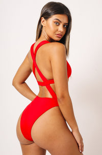 Sofia One Piece in Red