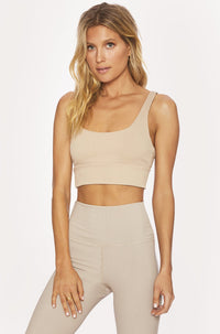 Leah Top in Tan