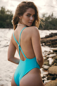 Jillian One Piece in Aquaminre