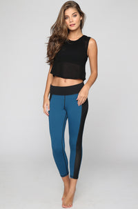 MICHI Stardust Crop Legging in Lagoon Blue|ISHINE365 - 3