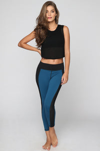 MICHI Stardust Crop Legging in Lagoon Blue|ISHINE365 - 1