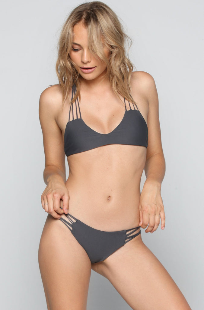 MIKOH SWIMWEAR 2016 Molokai Bikini Bottom in Lava|ISHINE365 - 4