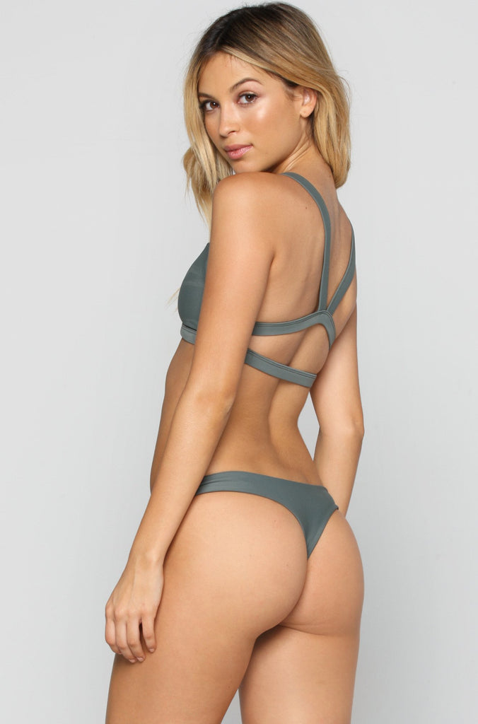 MIKOH SWIMWEAR 2016 Praia Bikini Bottom in Army|ISHINE365 - 5