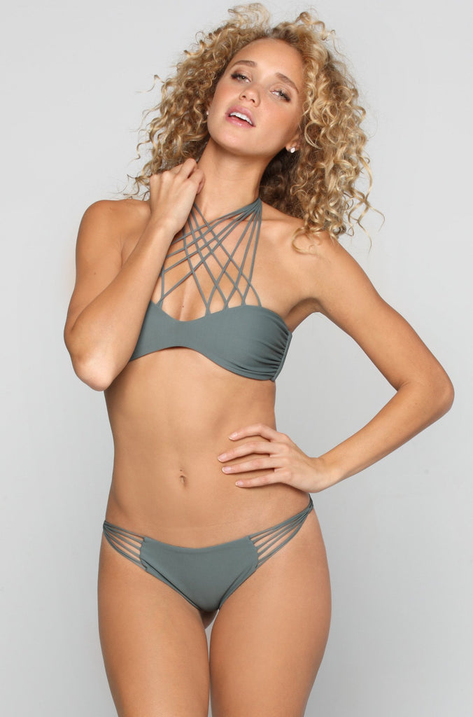 MIKOH SWIMWEAR 2016 Lanai Bikini Bottom in Army|ISHINE365 - 2