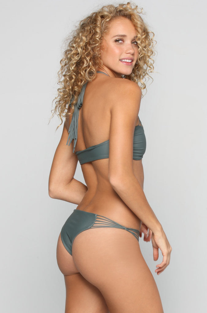 MIKOH SWIMWEAR 2016 Lanai Bikini Bottom in Army|ISHINE365 - 1
