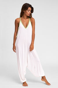 Pima Inca Jumpsuit in White