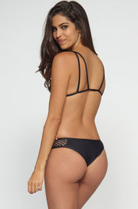 Posh Pua Kahana Bikini Bottom in Black|ISHINE365 - 5