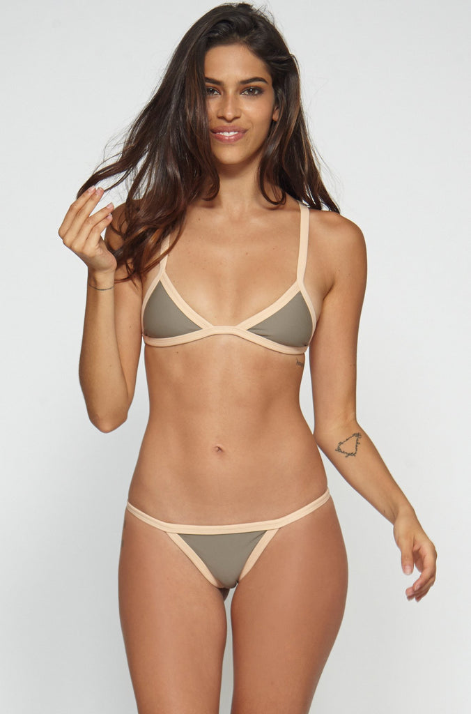 Posh Pua Kainalu Bikini Bottom in Smoke/Bare|ISHINE365 - 6