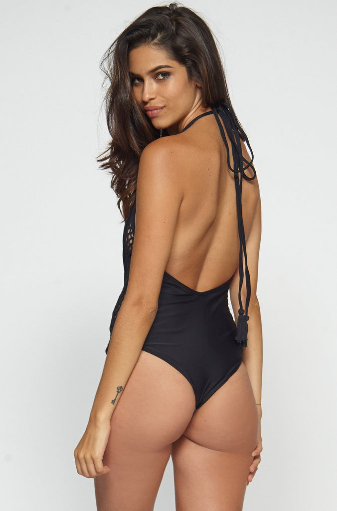 Posh Pua Pa'akai One Piece in Black|ISHINE365 - 6