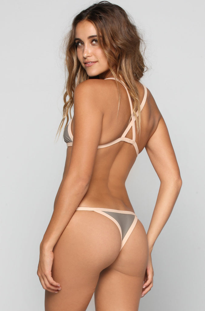 Kainalu Bikini Bottom in Smoke/Bare