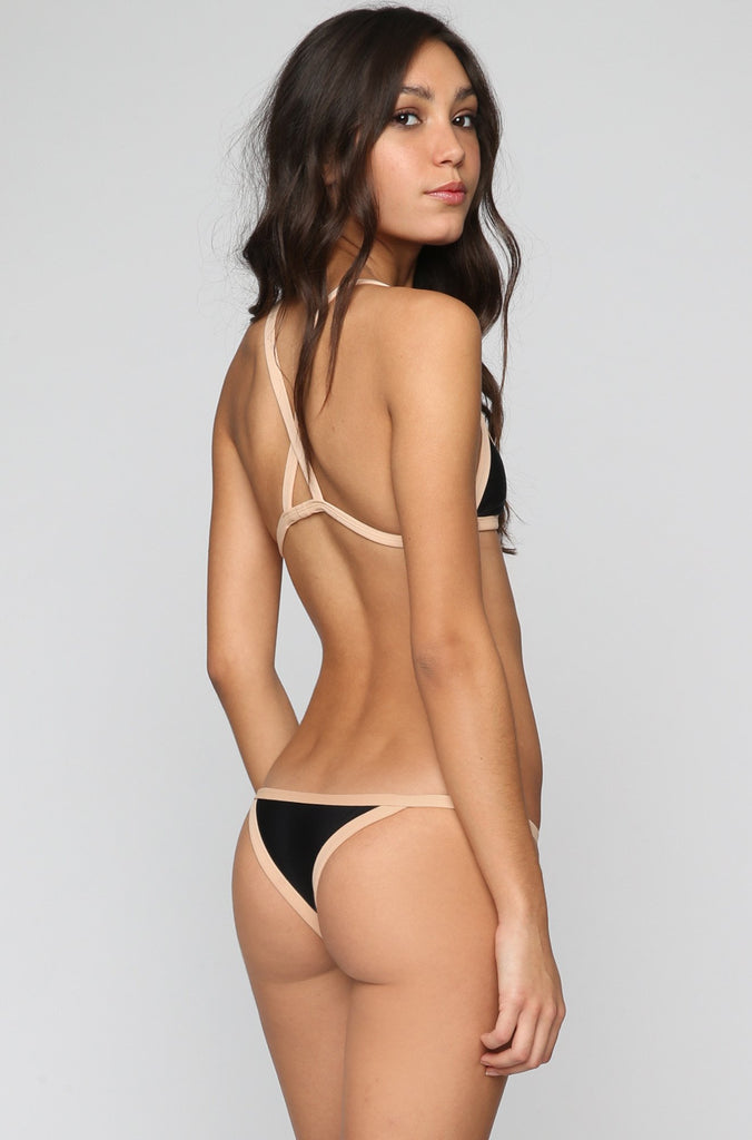 Posh Pua Kainalu Bikini Bottom in Black/Bare|ISHINE365 - 3