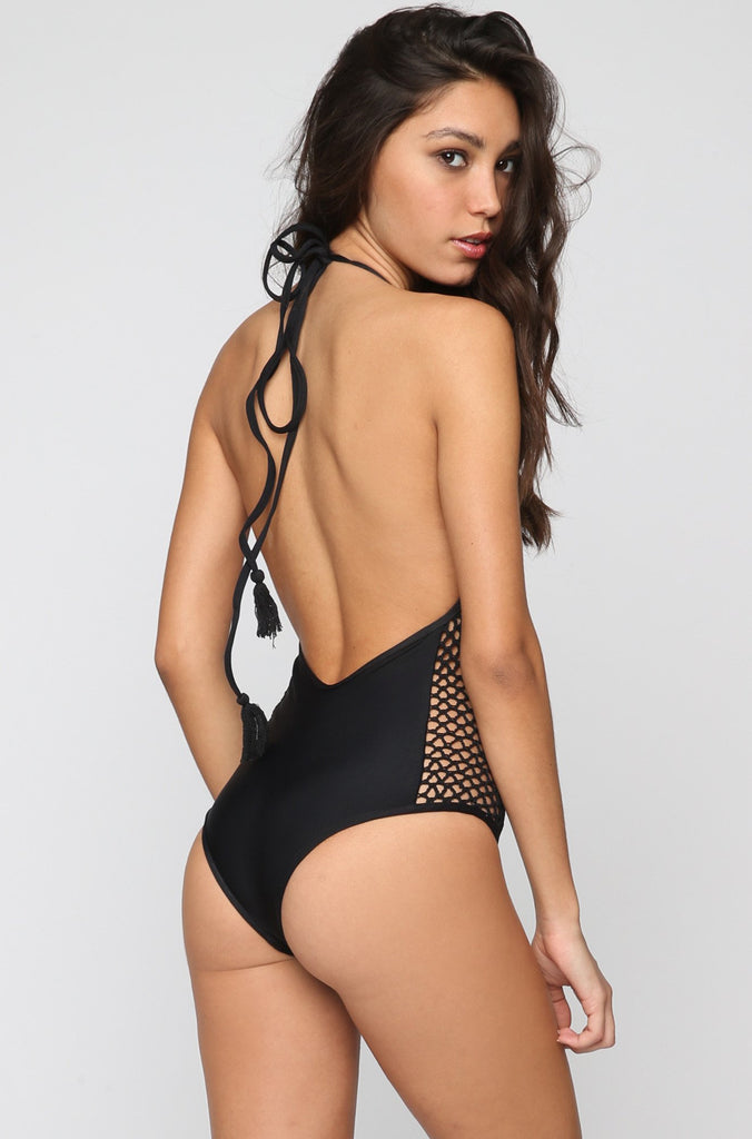 Posh Pua Pa'akai One Piece in Black|ISHINE365 - 3