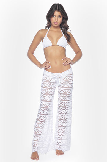 Malibu Lace Pant in Water Lily
