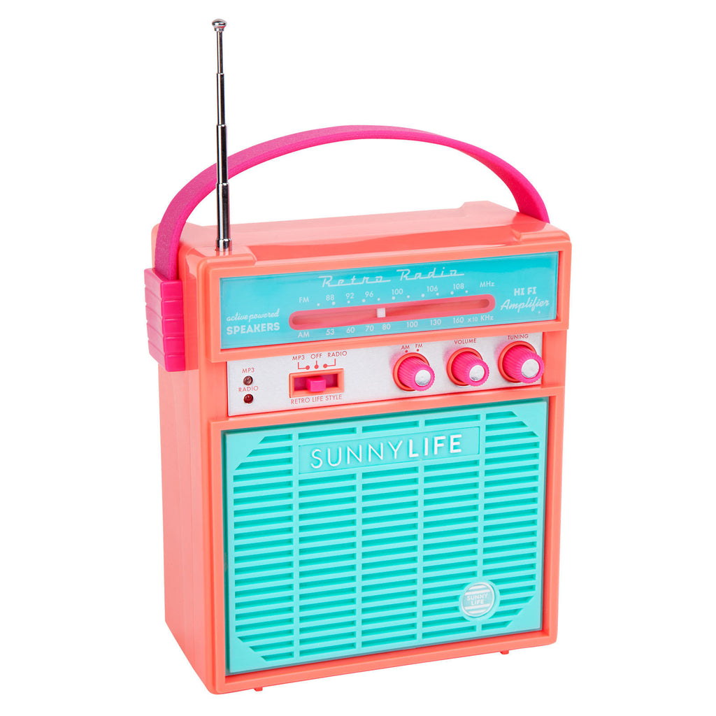 Retro Sounds Radio in Hot Coral