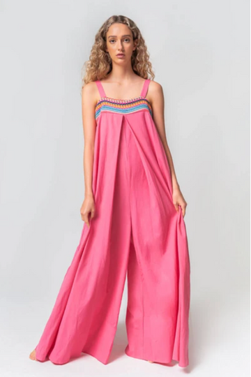 Wide-Leg Jumper in Fuschia