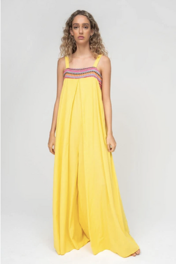 Wide-Leg Jumper in Yellow