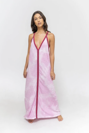 Tie Dye Sundress in Mauve
