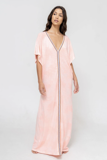 Tie Dye Inca Abaya Sundress in Coral