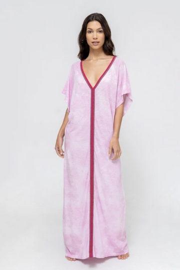 Tie Dye Inca Abaya Sundress in Mauve