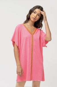 Mini Abaya Sundress in Hot Pink