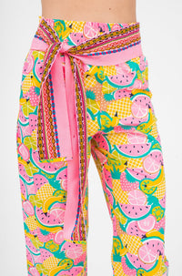 High Rise Comfy Pant Tropical Fruit
