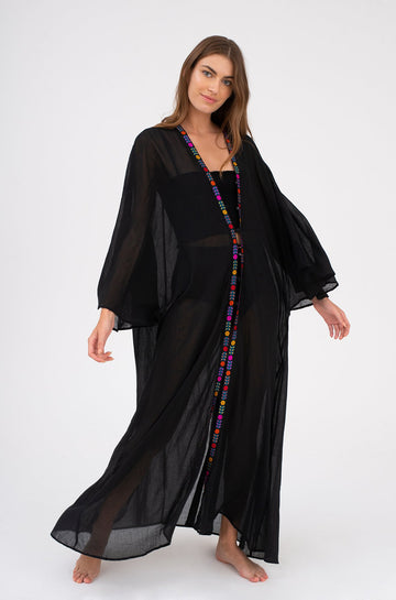 Indian Kimono in Black