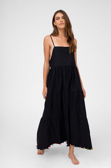 Popelina Maxi Dress in Black