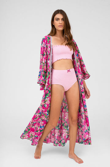 Indian Kimono in Pink Floral