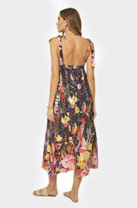 Penelope Dress in Yellow Floral