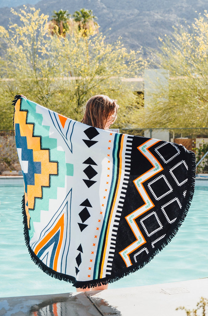 The Palm Springs Roundie Beach Towel
