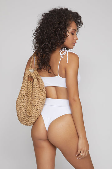 Ivanna Bottom in Ribbed White