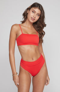 Ivanna Top in Ribbed Red