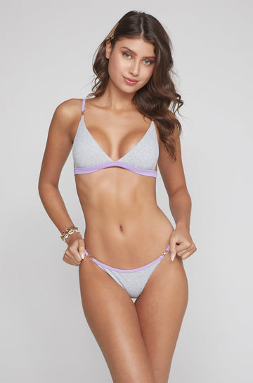 Casi Top in Grey/Lilac